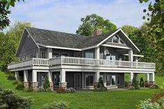 32 Ideas house plans with wrap around porch master suite great rooms Basement House Plans, Lake House Plans, Mountain House Plans, Ranch House Plans, House Floor Plans, Walkout Basement, Ranch Floor Plans, Story Mountain, Basement Layout