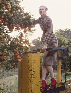 fashion editorials, shows, campaigns & more!: pick of the crop: julia nobis by stephan ward for vogue australia october 2013 Creative Photography, Portrait Photography, Fashion Photography, Tartan Mode, Mode Editorials, Fashion Editorials, Kids Fashion, Fashion Show, Runway Fashion
