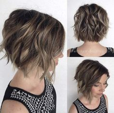 Soft wavy A-line bob by Emily Anderson