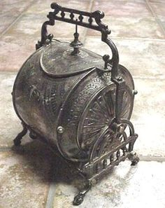 Pewter Victorian biscuit barrel - for the image