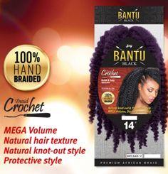 Zury Bantu Braid Black Braid Crochet Premium African Braiding Hair