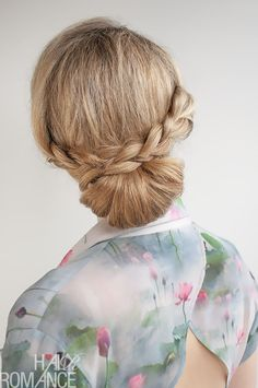 Hair Romance - 30 Buns in 30 Days - Day 12 - The Braid Over Bun Hairstyle