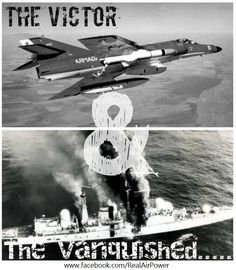 The Victor (Argentine Navy's Super Étendard) & The Vanquished (HMS Sheffield)...May 4, 1980...Today is the 31st anniversary of the sinking of HMS Sheffield (Falkland Islands War).