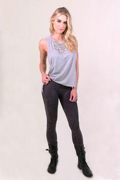 40838f3441 NikiBiki Vintage Knee Ridge Leggings - Charcoal - BOTTOMS - NIKIBIKI - Free  Vibrationz - 1