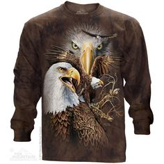 The Mountain Find 14 Eagles Long Sleeve Tee 30% off cyber monday and free shipping  SIZE 2XL REALLY COOL