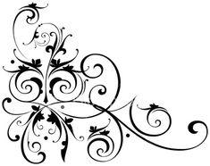 A fancy vectorized ornate scroll design with ungrouped scrolls. Scroll Design, Motif Floral, Free Vector Art, Art Plastique, Swirls, Envelopes, Line Art, Amazing Art, October Gallery