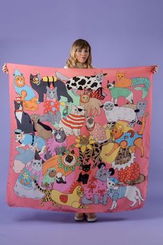 Karen Mabon just keeps getting better. Need this Fancy Dress Cats Oversized Silk Scarf to add to my ever growing Karen Mabon collection!
