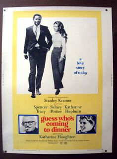 """Hepburn, Poitier, Tracy and Houghton """"Guess who's coming to dinner"""" (Adivina quién viene esta noche)"""