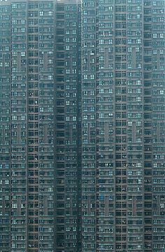 """Hong Kong high-rise residential building by World Press Photo Award-winning German photographer Michael Wolf, from his series """"Architecture of Density"""" Futuristic Architecture, Amazing Architecture, Architecture Design, Building Architecture, Hong Kong Architecture, Hong Kong Building, Michael Wolf, Rare Historical Photos, Harbin"""