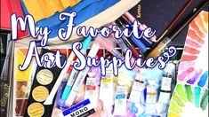 My Favorite Art Supplies 2018 - Gouache, Watercolors, Markers, Sketchboo...