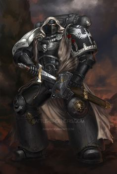 """inkary:  """"Reiborn """"of the Dark"""" by Inkaryon DeviantARTA bit of close-up: here He has a piece of backstory, written by the commissioner, check it there!There's also a watermarkless version, but of lower quality."""