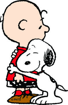 Charlie Brown and Snoopy ♡ See More #PEANUTS #SNOOPY pics at www.freecomputerdesktopwallpaper.com/peanuts.shtml