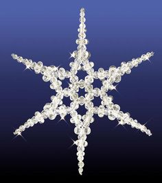 "Holiday Beaded Ornament Kit - Snowflake Suncatcher, 8.25"", Makes 1 $8.49"
