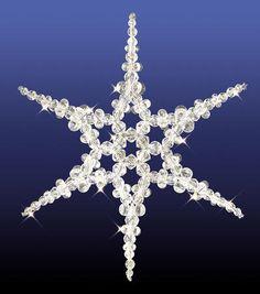 "Holiday Beaded Ornament Kit - Snowflake Suncatcher, 8.25"", Makes 1 $8.49"