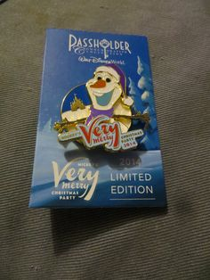 Limited Edition 2000 Olaf Pin Annual Pass Holder Pin for Mickey's Very Merry Christmas Party. Rare and hard to acquire. I have 2 of these for sale at £35 each.