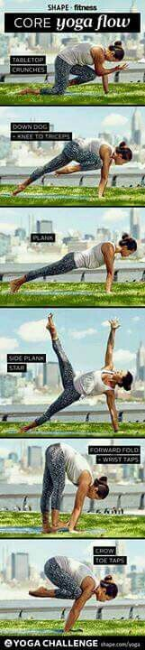 Core yoga flow