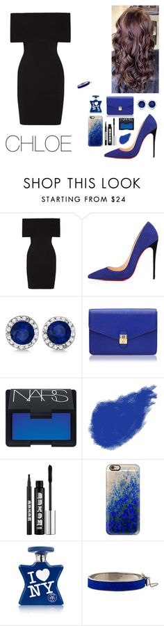"""#570"" by infinito1 ❤ liked on Polyvore featuring Rosetta Getty, Christian Louboutin, Allurez, Florian London, NARS Cosmetics, Giorgio Armani, Buxom, Casetify and CÉLINE"