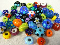 more beads lampwork beads - anything goes.