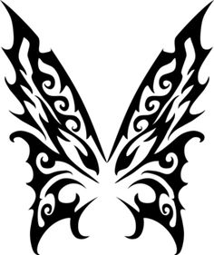 56bd14fcc Butterfly papillon tattoo gothic tribal - Animals t-shirt - Starting ...  Tribal