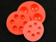 Silikonformen - Schmuckgießform aus Silikon cabochon 6x12mm - ein Designerstück von luflom-design bei DaWanda
