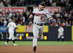 Wild Card Game, October 3, 2017: Minnesota Twins' Brian Dozier runs the bases after hitting a home run against the New York Yankees during the first inning of the American League wild-card baseball game Tuesday, Oct. 3, 2017, in New York. (AP Photo/Frank Franklin II)