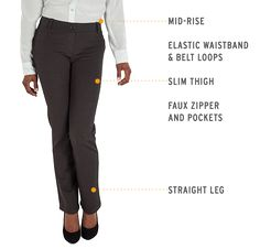 Gray Straight-Leg Dress Pants Yoga Pants for women that are very comfortable