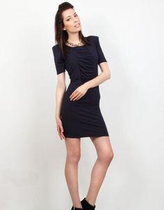 Zoe Phobic Navy Blue Viscose Dress Pissarro – Women's Pencil dresses | Smartitbuy