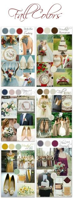 Wedding Colour Schemes 2016 – Fall wedding color ideas…