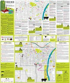 Turin tourist map