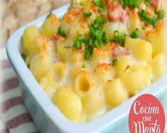 macarrones con queso gratinados Macaroni And Cheese, Ethnic Recipes, Bacon, Food, Toddler Meals, Lunches, Cuisine, Mac And Cheese, Best Recipes