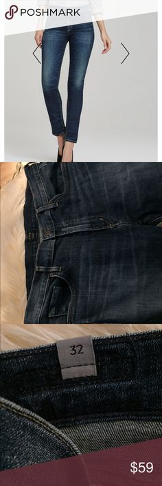 Citizens of Humanity Agnes jeans (32) Citizens of Humanity Agnes jeans - mid rise in a great wash. Size 32. Not super skinny , more of a skinny straight fit. Small (almost) hole in the back - patched. Not very noticeable from the outside but have priced accordingly. Citizens of Humanity Jeans Straight Leg