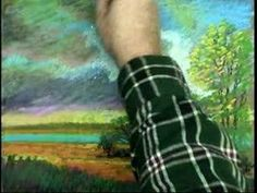 OIL PASTEL DEMO MARSH LANDSCAPE - GARY GARRETT PAINTING