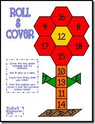 Roll and Cover with pattern blocks