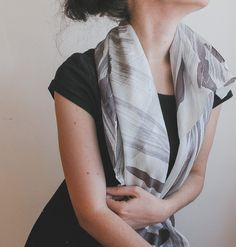 Hand painted silk shawl hand painted silk scarf | handpainted | aubergine and white | minimalist fashion | neutral palette | neutral colors | summer scarf | summer fashion | fashion accessories | light scarf | square scarf | abstract art | foulard |