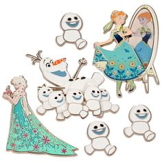 [Official] Disney Store | pin badge set Ana and The Snow Queen: | Disney Goods Gift of official mail order site Disneystore