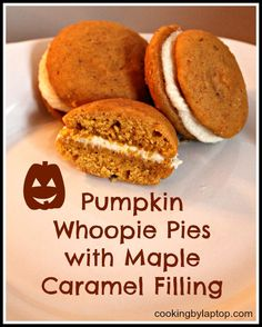 : Pumpkin Whoopie Pies with Maple Marshmallow Filling | cookies&cream ...
