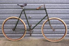 Old Bicycle, Bicycle Parts, Bike, Vintage Cycles, Mode Of Transport, Shades Of Green, Bicycles, Fork, Bespoke