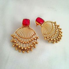 Gold earrings # beautiful #