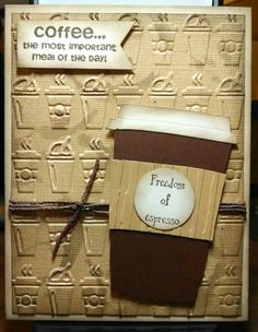 1000+ ideas about Coffee Cards on Pinterest | Pocket cards, Cards ...