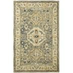Angelo Moss (Green) 7 ft. 9 in. x 7 ft. 9 in. Round Area Rug