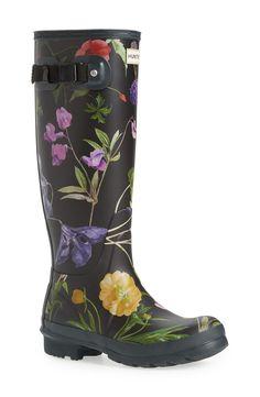 Hunter 'Royal Horticultural Society' Print Waterproof Rain Boot (Women) available at #Nordstrom