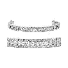 Diamond Bracelet - Vintage Style Platinum Tennis Bracelet CleverEve. $16505.00. Save 62% Off!