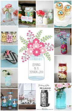 History of a mason jars and all the creative ways to decorate with them. Great for tables capes, home decor and more!