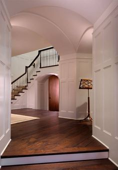 Tudor Revival house by Donald Lococo and Darryl Carter . foyer & entry