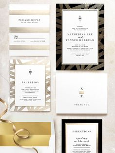 modern-wedding-invitations: simple and classic