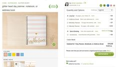 Minted has 402, yes FOUR HUNDRED AND TWO planner cover designs! <3