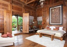 the project collection of jati mulya indah goes bali villa indonesian – JATI MULYA INDAH Entrance Design, House Entrance, Traditional Interior, Traditional House, Indonesian House, Natural Modern Interior, Bali Luxury Villas, Bali House, House Front