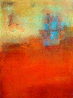 "Scott Upton, Playful Water Buffalo 2 , 40 x 30"" , mixed media on canvas"