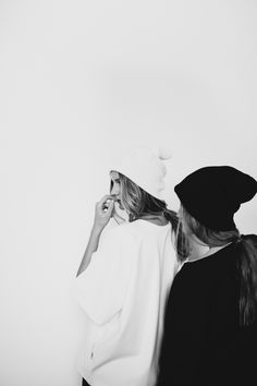 beanies in black & white #style #fashion #hat