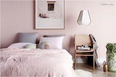 Tonos pastel en el dormitorio: Usos que huyen de lo azucarado en exceso http://www.houzz.es/ideabooks/71043039 #decoración